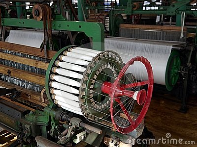 Industry: historic cotton mill spool machine