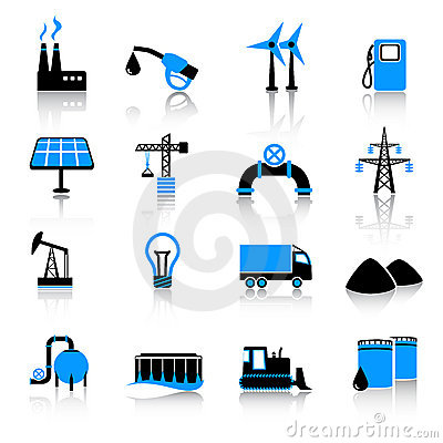Free Industry Icon Set Royalty Free Stock Image - 22109816
