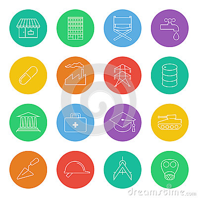 Industry-icons-1 Vector Illustration