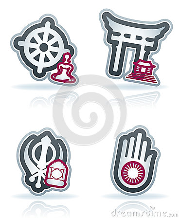 Industry Icons: Religion Royalty Free Stock Photos - Image: 25552418