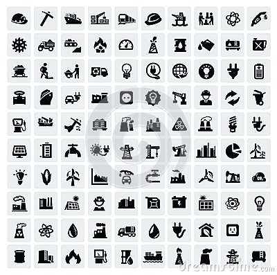 Free Industry Icons Set Stock Photos - 28077113