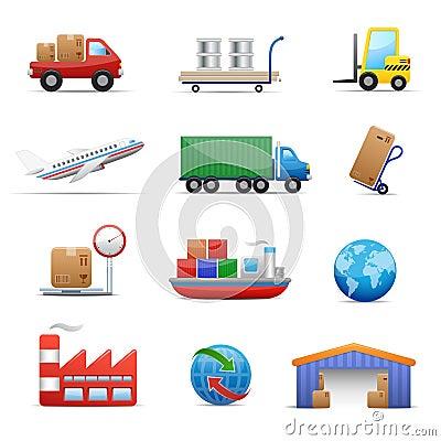 Free Industry &  Logistics Icon Set Royalty Free Stock Photos - 10655358