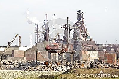 Industry near IJmuiden in Netherlands