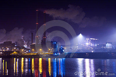 Industry at night