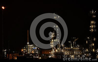 Industry pernis Rotterdam by night