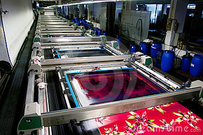 Industry: Plant For Textile Printing Royalty Free Stock Images - Image: 23920899