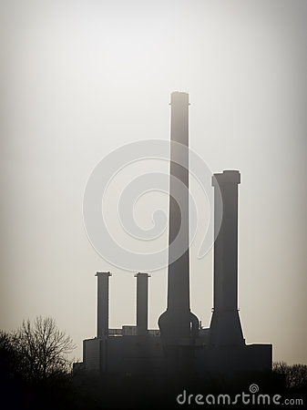 Industry smoke stacks