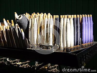Industry: sunlit cotton spools
