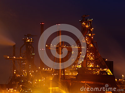 Industry view late at night