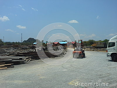 Industry Wood Editorial Stock Image