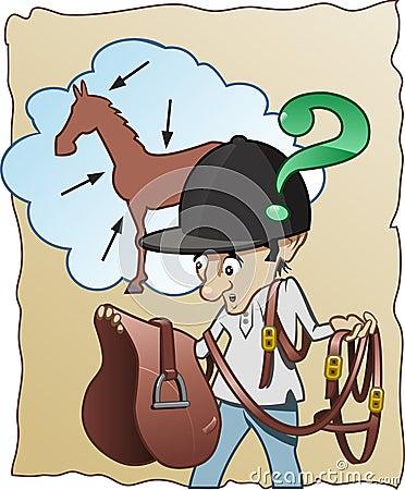 Inexperienced horse-rider