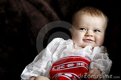 Infant baby smiling