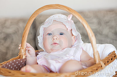 Infant in the basket