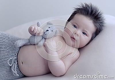 Infant Boy With Toy Free Public Domain Cc0 Image