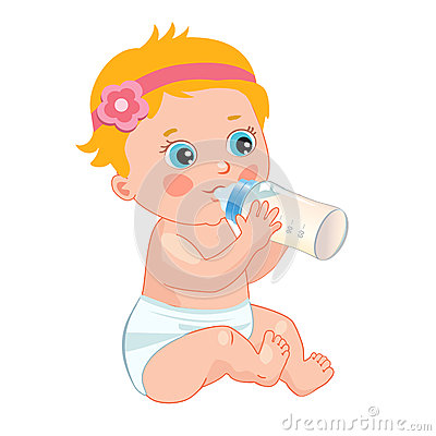 Free Infant Child Baby Toddler Sitting And Drinking From The Feeding Bottle Royalty Free Stock Photos - 72139088