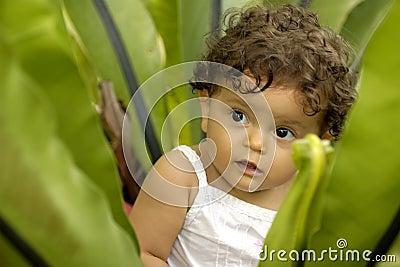 Infant in Garden