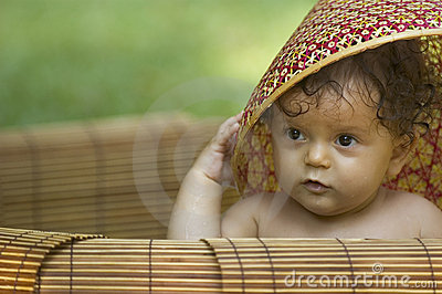 Infant and hat