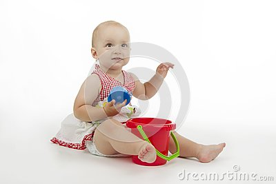 Infant with pie