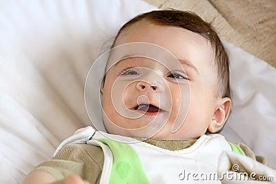 Infant smile.