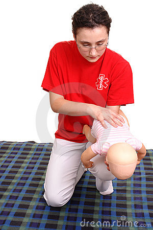 Free Infant Suffocation Rescue Demonstration Royalty Free Stock Photos - 5506718