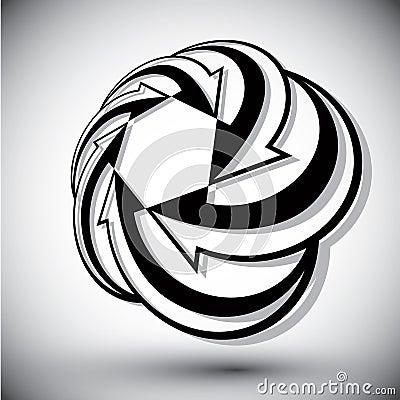 Infinite loop arrows vector abstract symbol, graphic design temp