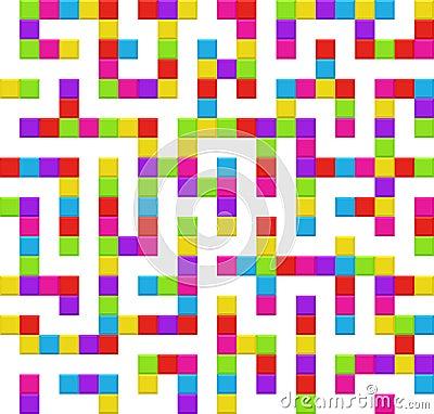 Infinite maze seamless background pattern