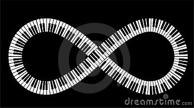 Infinite piano keys