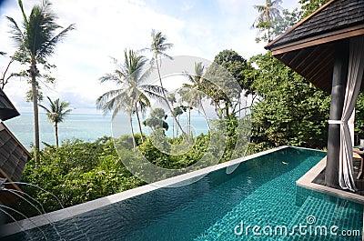 Infinite pool villa resort