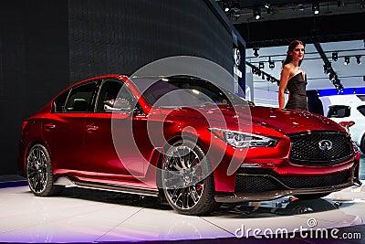 Infinite Q50 Eau Rouge concept car Editorial Stock Image