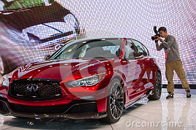 Infinite Q50 Eau Rouge concept car Editorial Photo
