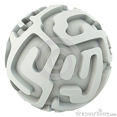 Infinite sphere maze