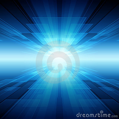 Infinity blue background