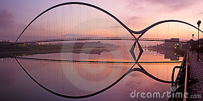 Infinity Bridge Stockton on Tees Editorial Image