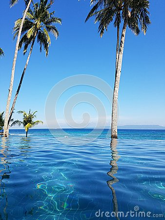 Free Infinity Pool In Bali, Indonesia Stock Images - 121008464