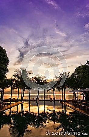 Infinity Pool sunrise