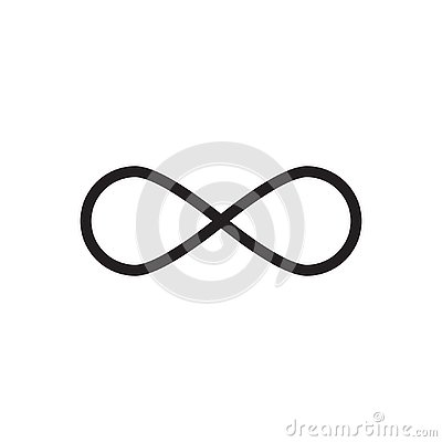 Free Infinity Sign Vector Icon Royalty Free Stock Image - 130658166