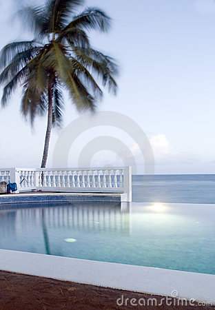 Infinity swimming pool Corn Island Nicaragua
