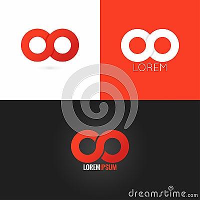 Free Infinity Symbol Logo Design Icon Set Background Stock Image - 58672001
