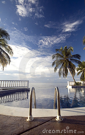 Infinty pool caribbean sea
