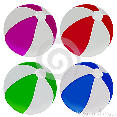 Illustration of colorful beach balls