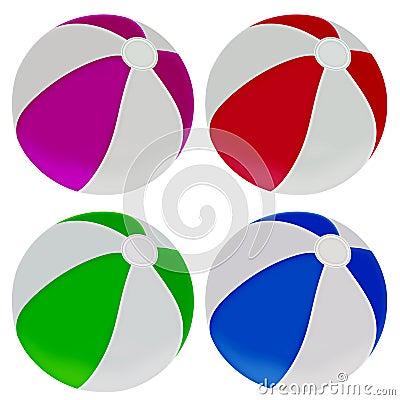Illustration of colorful beach balls