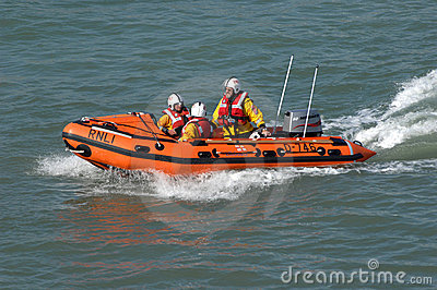 Inflatable high speed lifeboat Editorial Photo