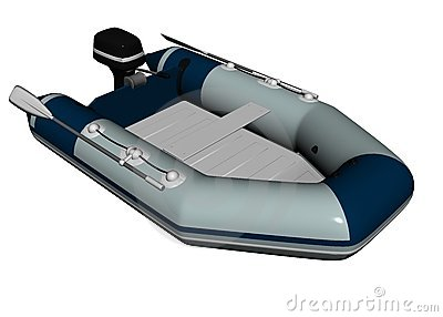 Inflatable motorboat