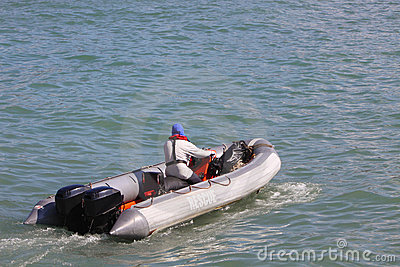 Inflatable Rescue Boat Editorial Stock Photo