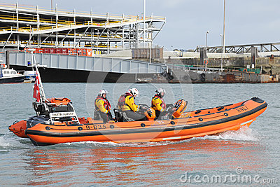 Inflatable RNLI lifeboat Editorial Image