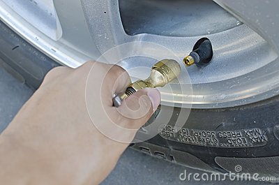 Inflate tire for increase pressure