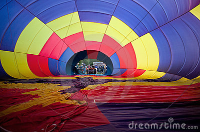 Inflating Hot Air Balloon Editorial Stock Photo