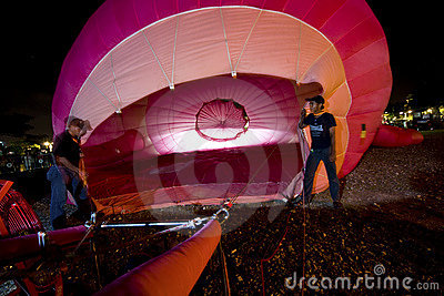 Inflating hot air balloon Editorial Photography