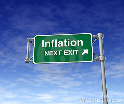 Inflation economy prices rise busiiness symbol