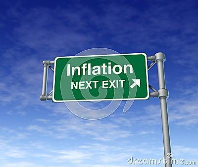 Inflation economy prices rise busiiness symbol